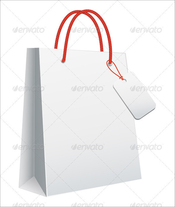 White Bag Tag Design