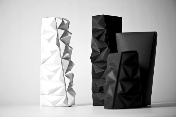 White & Black Paper Packaging Design