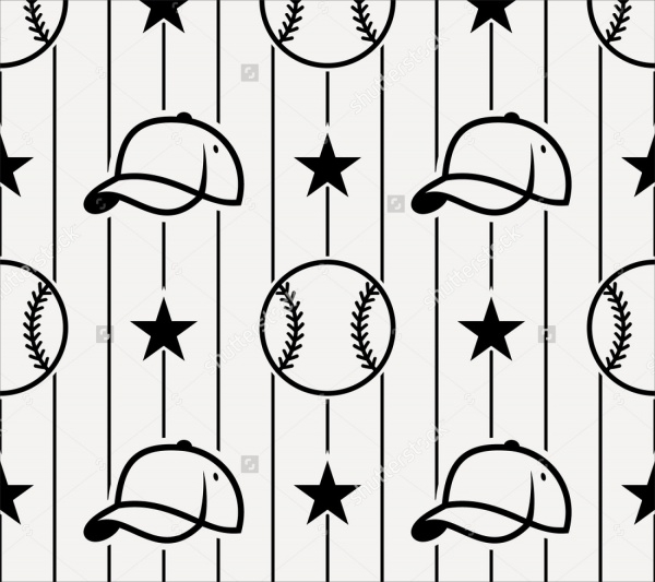 White & Black Striped baseball Pattern