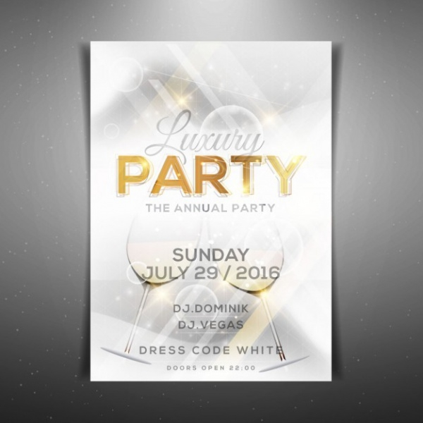 White Luxury Wine Party Flyer