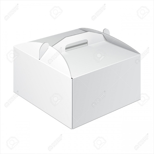 White Short Square Cardboard Cake Packaging