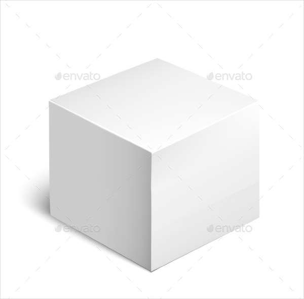 White Square Cardboard Package Box