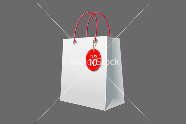 White paper bag Packaging