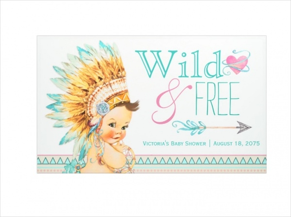 Wild and Free Boho Baby Shower Banner