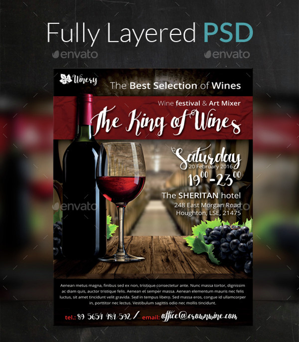 26 Wine Flyer Designs Psd Vector Eps Jpg Download Freecreatives