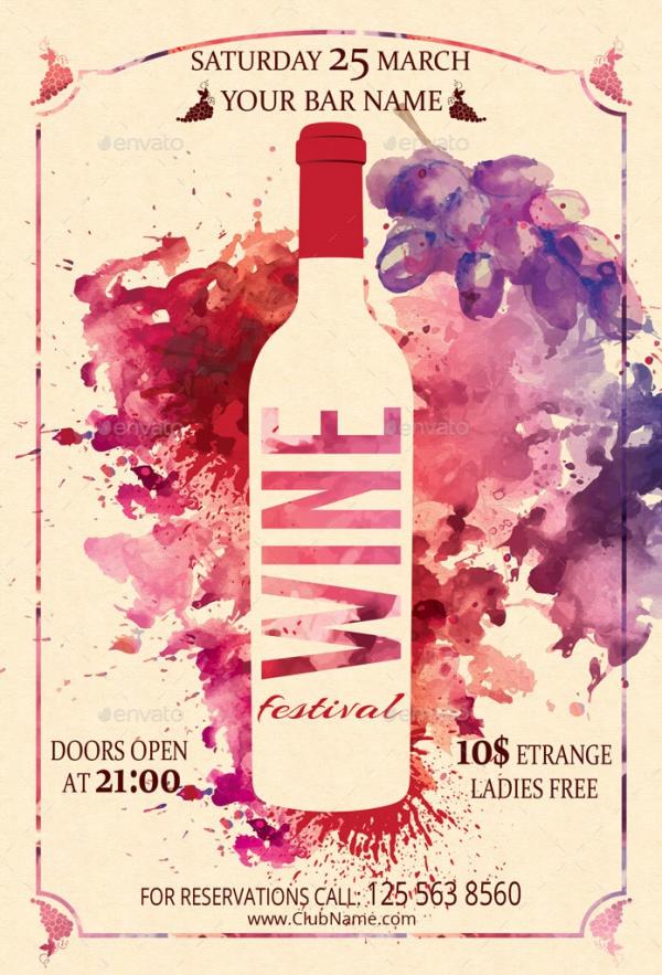 Wine Festival Flyer Design