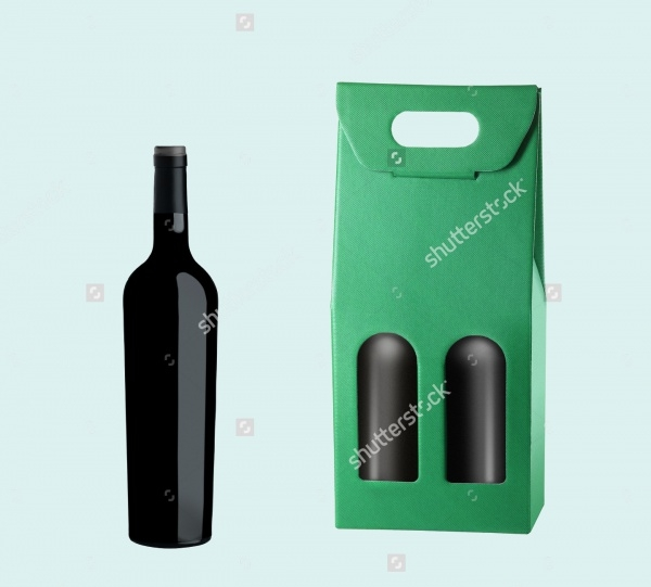 Wine Package & Bottle Isolated