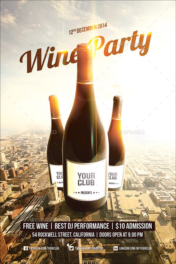 26  wine flyer designs