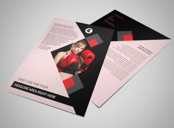 Women Boxing Gym Flyer Template