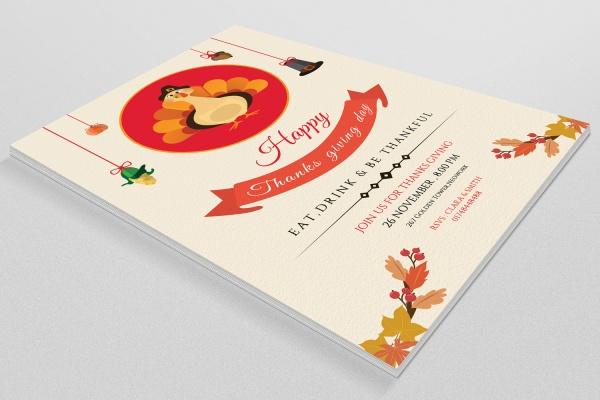 Wonderful Thanksgiving Invitation Template