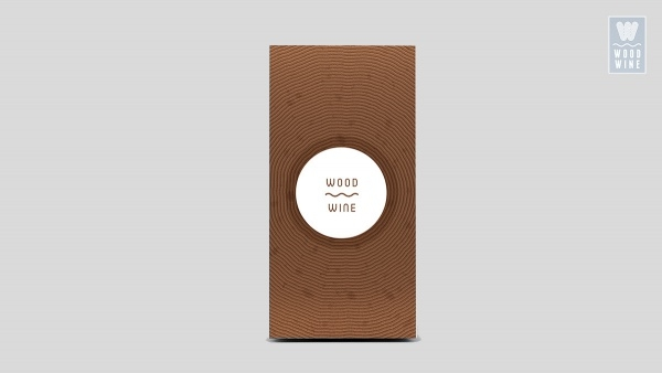 Wood Wine Packaging Template