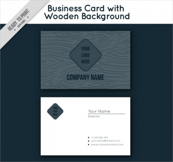 Wooden Black Corporate Business Card