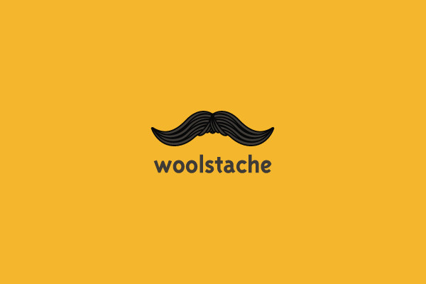 Wool Mustache Fashion Logo