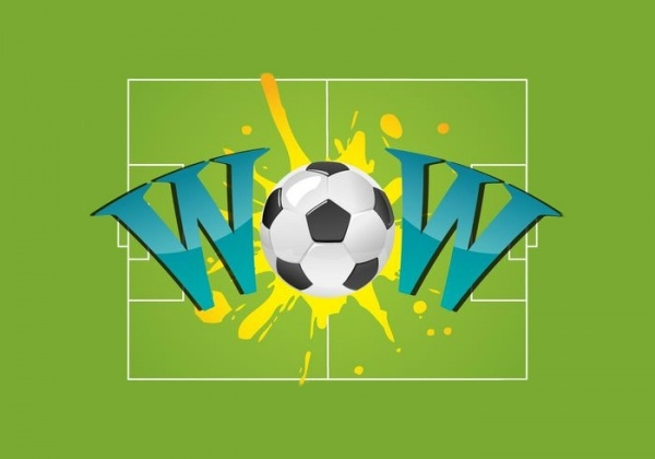 Wow Vector Soccer Balls