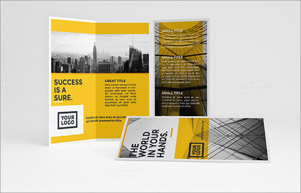 Yellow Architecture Trifold Brochure