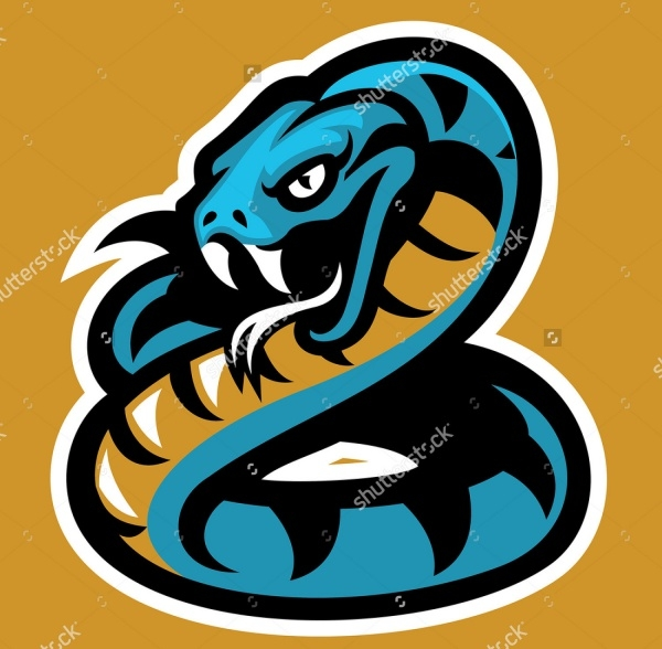 Yellow Snake Mascot Vector