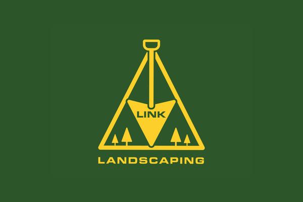 Zelda Link Landscaping Logo