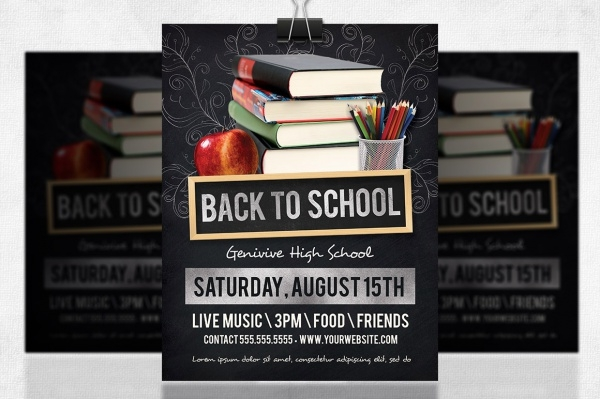 PSD Flyer for Back to School