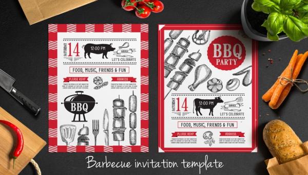 21 creative bbq invitation designs ideas psd vector eps jpg