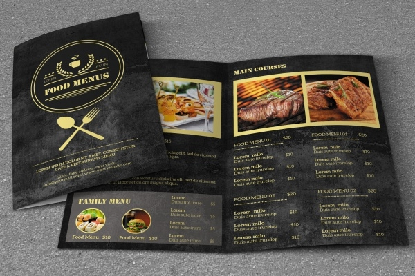 A4 Retro Design Menu Brochure