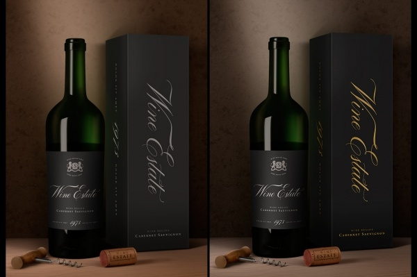 Traditional Corkscrew Wine Packaging