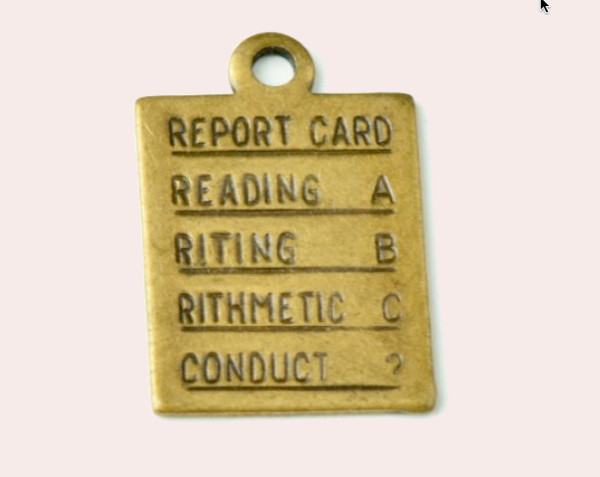 brass plated report card
