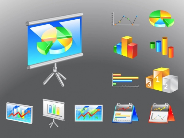 Business Charts Footage Corporate Vector