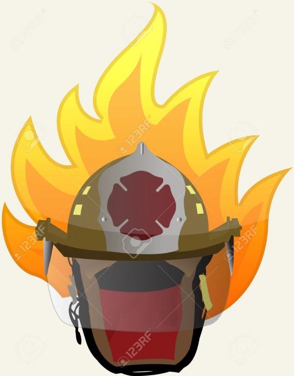 Fireman Helmet Illustration Design