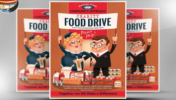 Free 23 Food Drive Flyer Designs In Psd Vector Eps