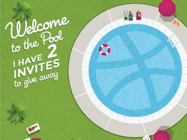 highly editable swiming pool invitation