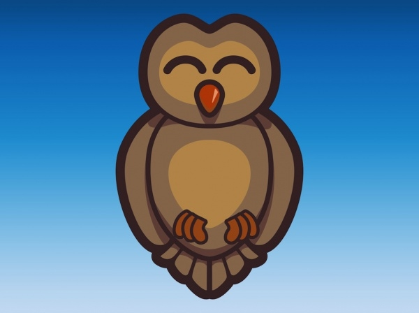 hipster Happy Owl Vector