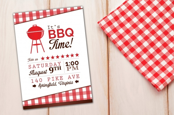 Bbq Reception Invitation