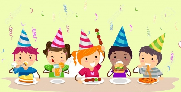 kids Food Party illustration