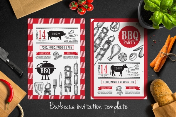 BBQ Party Reception Invitation