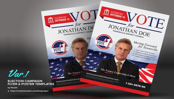 Political Flyer Templates PSD AI Illustrator Download - Free political flyer templates