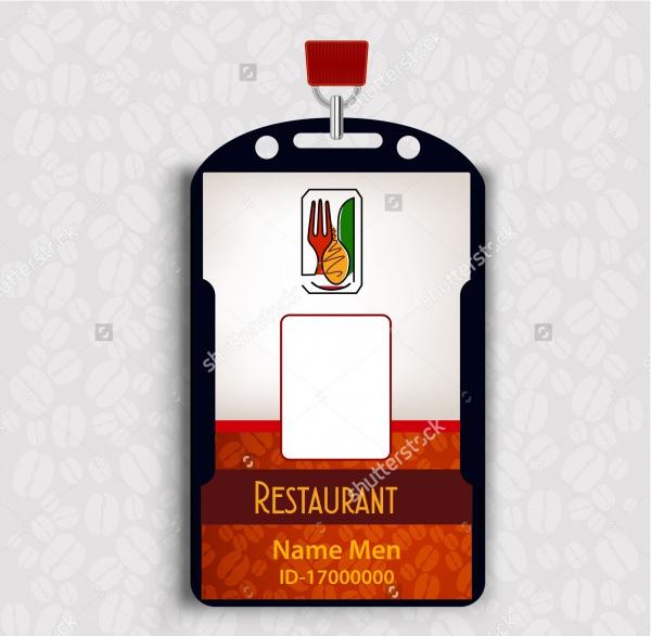 reataurant ID Card Design