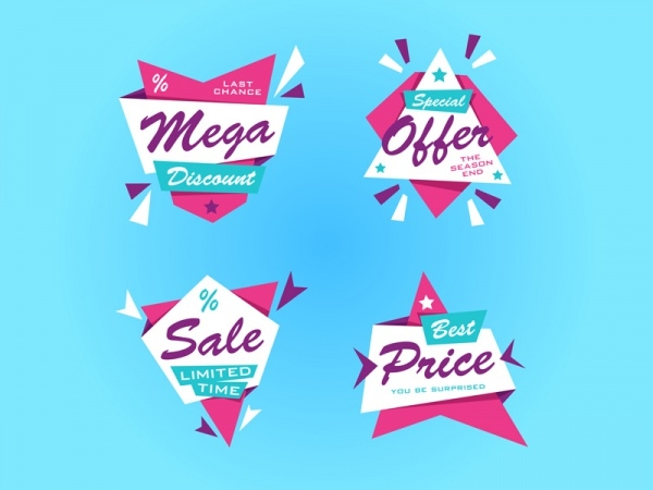 Highly Editable Discount Tags