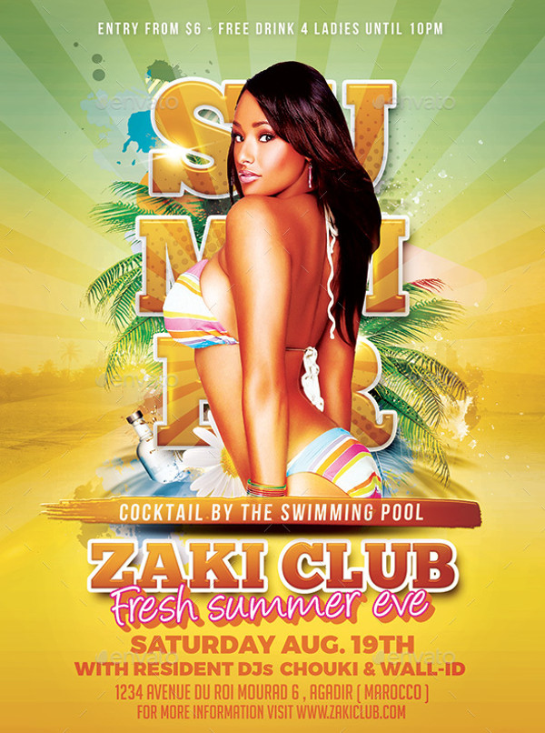 summer Club Flyer Design