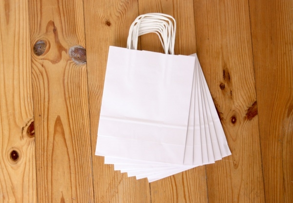 White Paper Shopping Bag Package