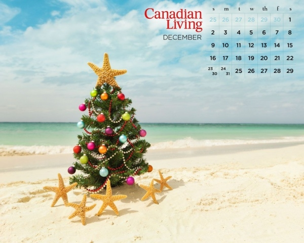 Free Christmas Beach Wallpaper