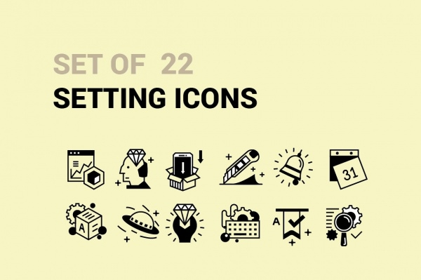 22 Setting Icons Pack