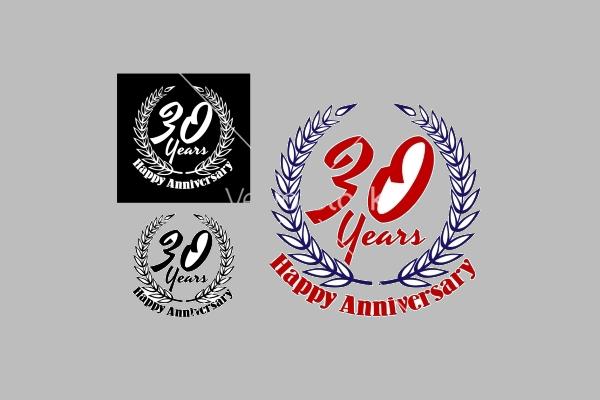 30 years happy anniversary icons