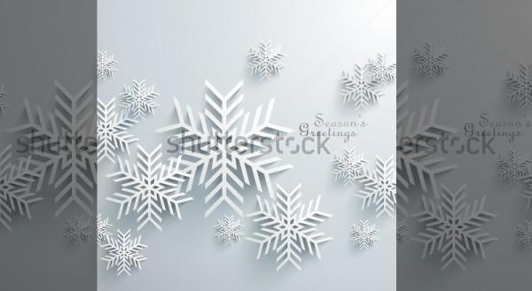 3D Snowflake Vector