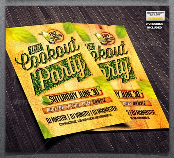A4 Design Cookout Flyer