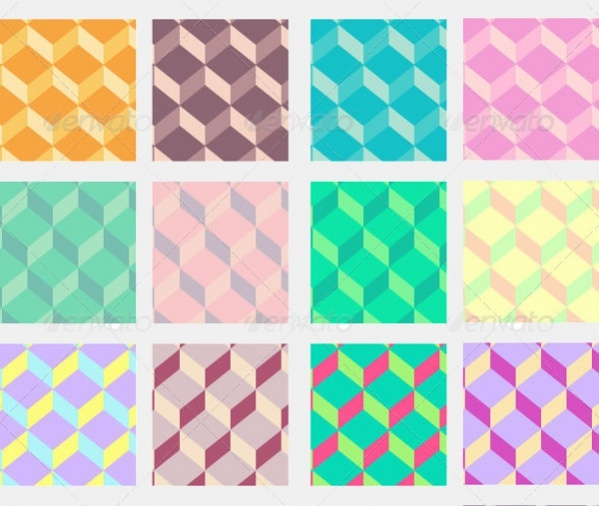 Abstract Cube Polygon Pattern