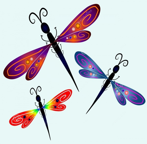 Abstract Dragonfly Clip Art