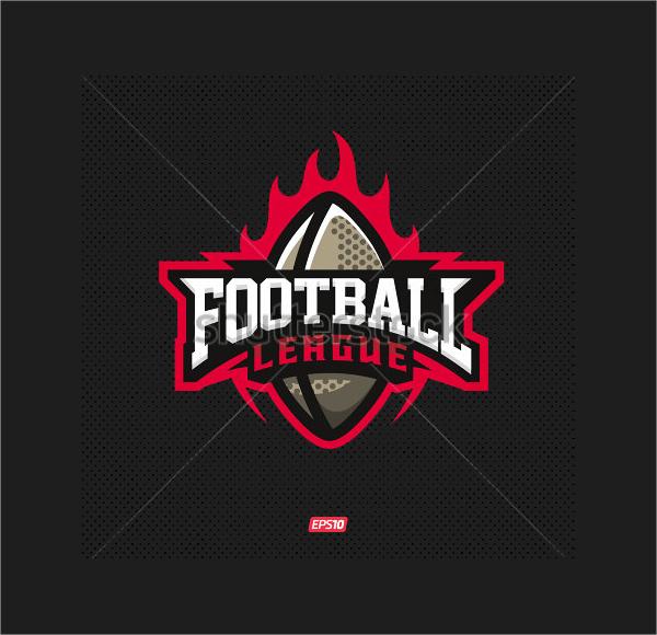 Abstract Football Logo Design
