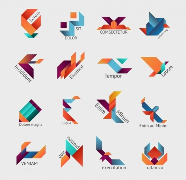Abstract Origami Business Logo