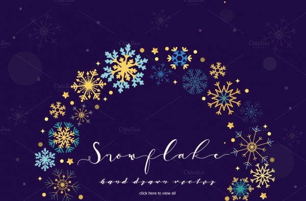 Abstract Snowflake Vector
