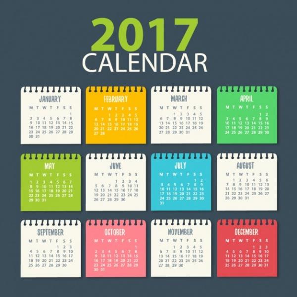 Academic Desk Calendar